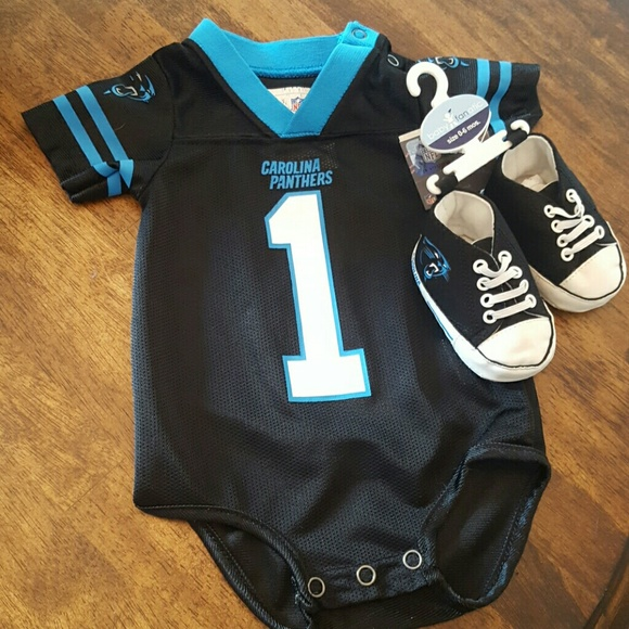 sale retailer e9fcc 961ff Infant Carolina Panthers Jersey and high top shoes
